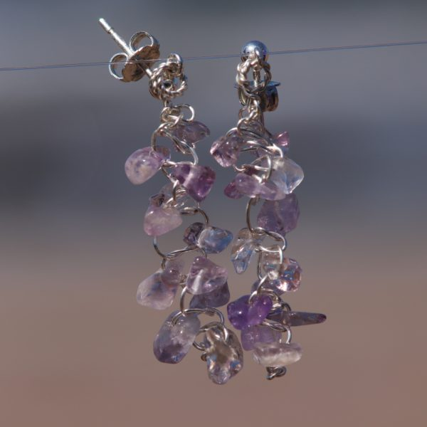 Ametrine Woven Earrings 2