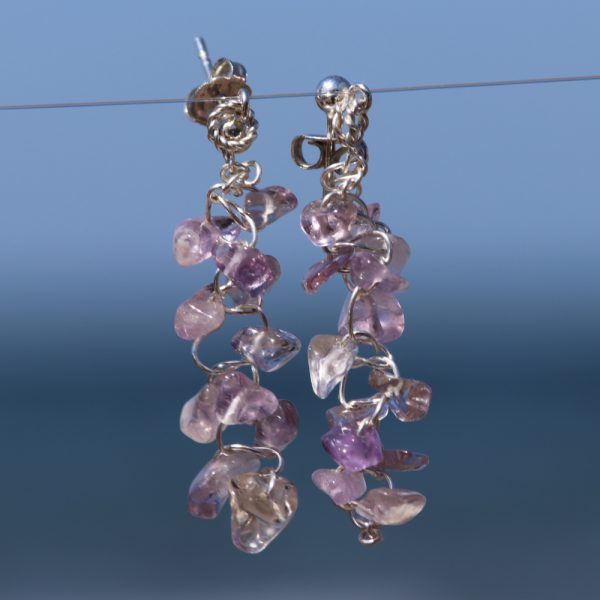 Ametrine Woven Earrings