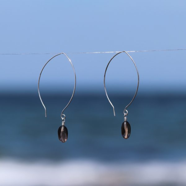 Contemporary Leaf Shaped and Smokey Quartz Drops 3