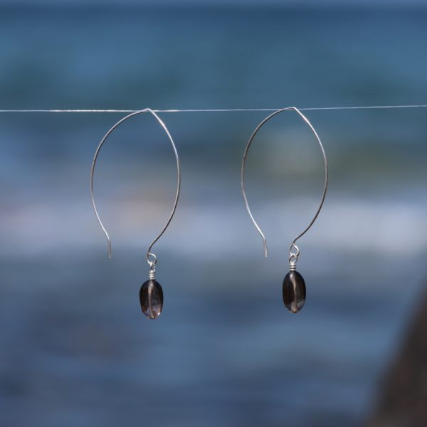 Contemporary Leaf Shaped and Smokey Quartz Drops 5