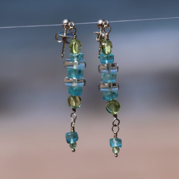 Multi-Gem Drop Earrings 10