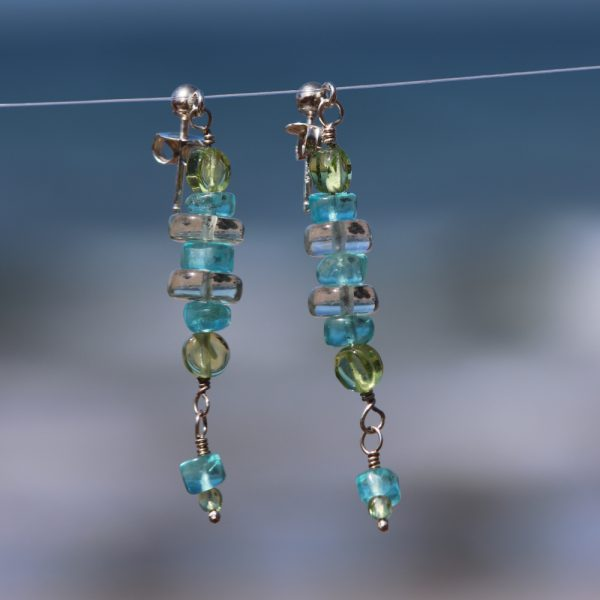 Multi-Gem Drop Earrings 6