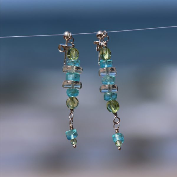 Multi-Gem Drop Earrings 7