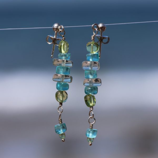 Multi-Gem Drop Earrings 8