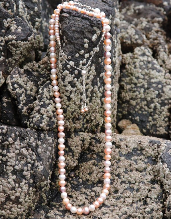 Multi-coloured Freshwater Pearls Necklace R1-min-min