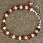 Pearl and Amber Nugget Bracelet (4)-min