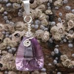 Pink Amethyst Faceted Drop Pendant (4)-min