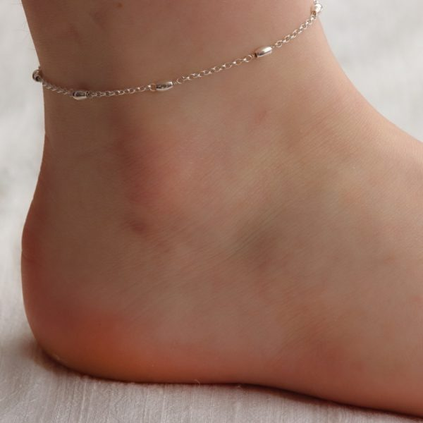 Silver Bead Anklet (2)-min