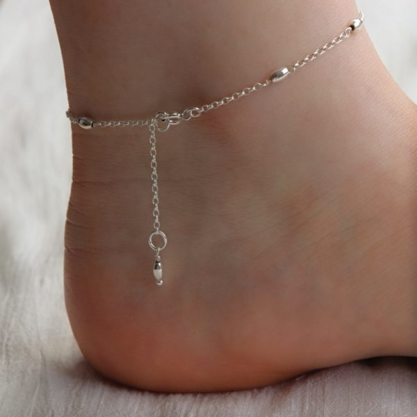 Silver Bead Anklet-min