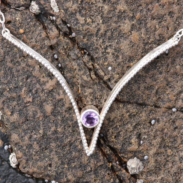 Silver Sweetheart and Amethyst Pendant (7)-min