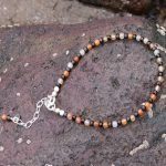 Sparkly Micro faceted Black Spinel and Carnelian Braclet (2)-min