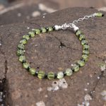 Sparkly Micro faceted Black Spinel and Peridot Braclet (4)-min