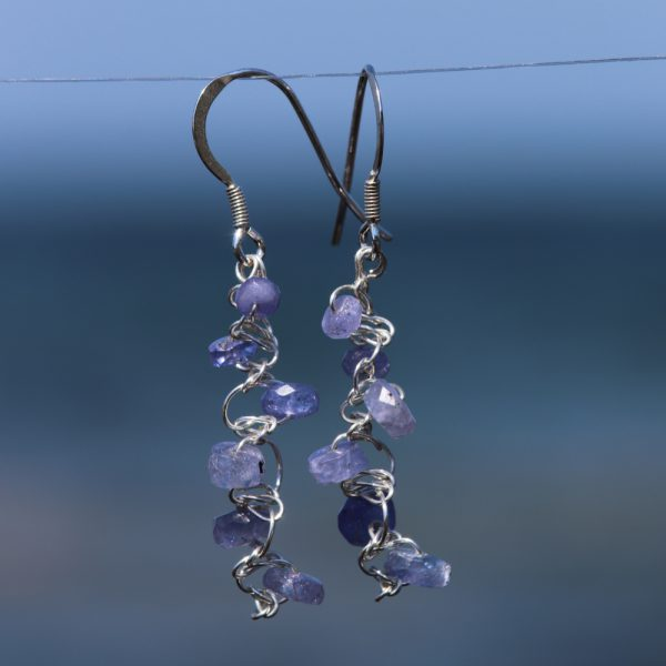 Tanzanite Woven Earrings 2