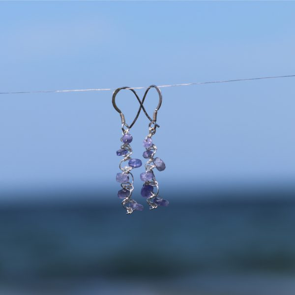 Tanzanite Woven Earrings 3