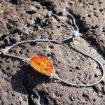 Amber and silver slider bracelet 8