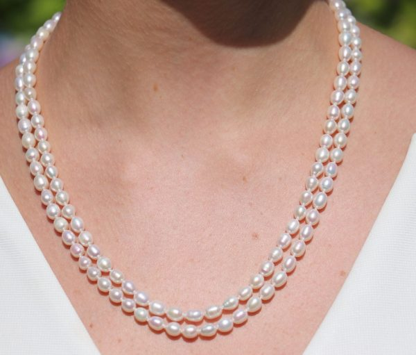 Double row drop pearl knecklace 2-min (1)