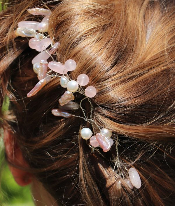 Keshi Pearl and Rose Quartz Hair Vine 2-min (1)