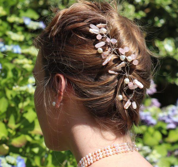 Keshi Pearl and Rose Quartz Hair Vine 3-min (1)