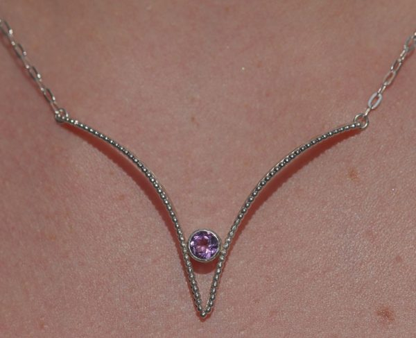 Silver Sweetheart and Amethyst Pendant 1-min (1)