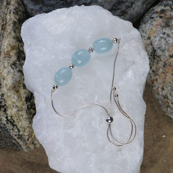 Aquamarine Slider Bracelet 1 b