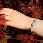 Aquamarine Slider Bracelet 10 b