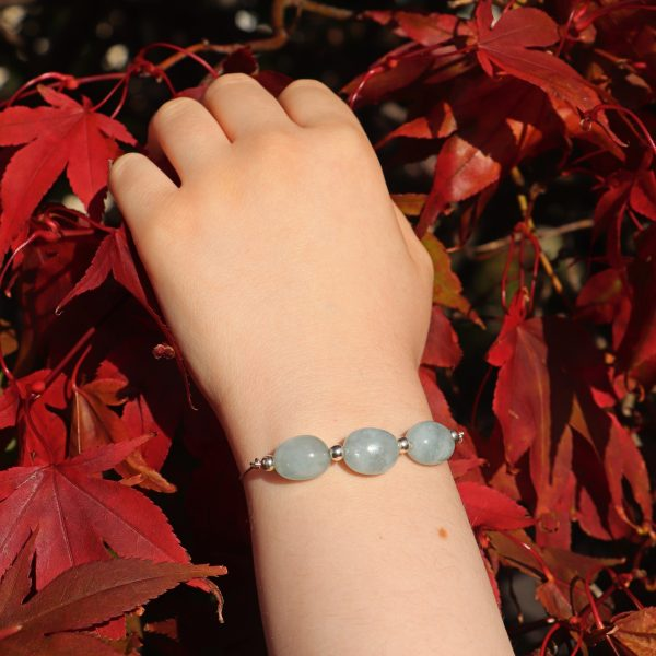 Aquamarine Slider Bracelet 11 b