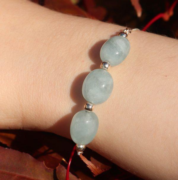 Aquamarine Slider Bracelet 8 b