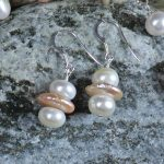 Button and Coin Pearls Earrings 8 b
