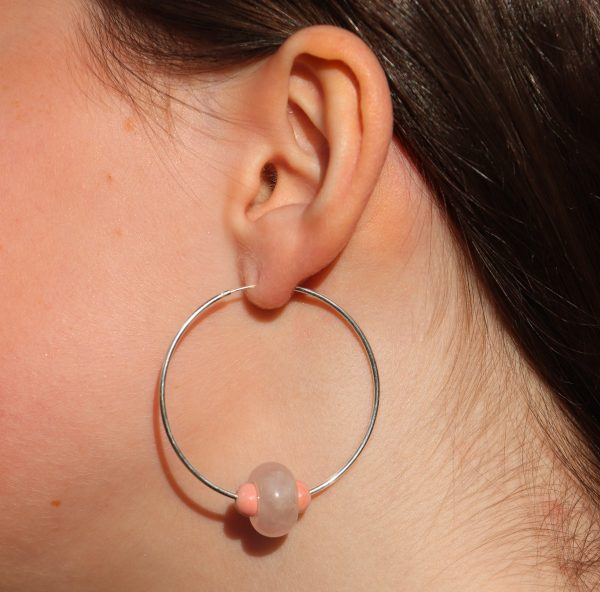 Endless Hoop Rose quartz 8 b