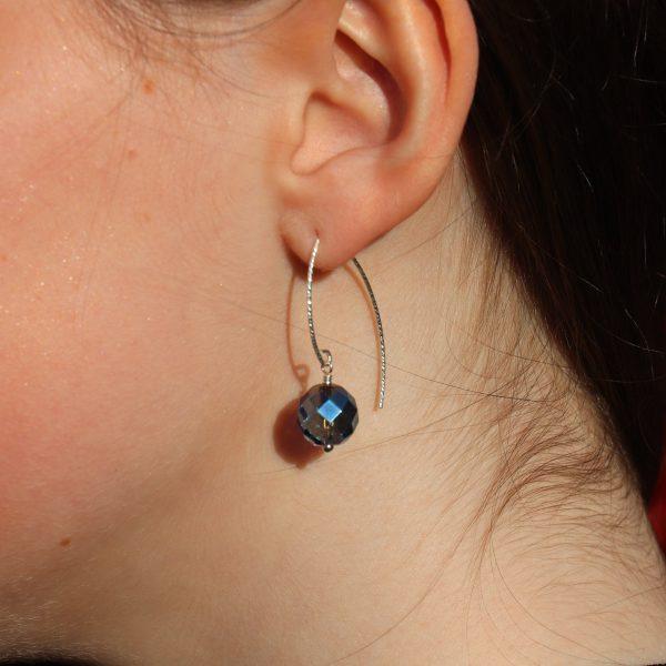 Iridescent Blue Quartz Earrings 11 b