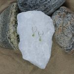 Peridot Drop Charm Earrings 10 b
