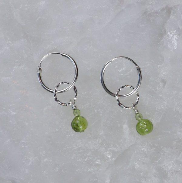 Peridot Drop Charm Earrings 11 2 b