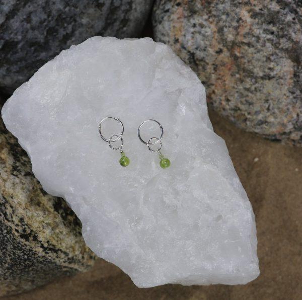 Peridot Drop Charm Earrings 11 b