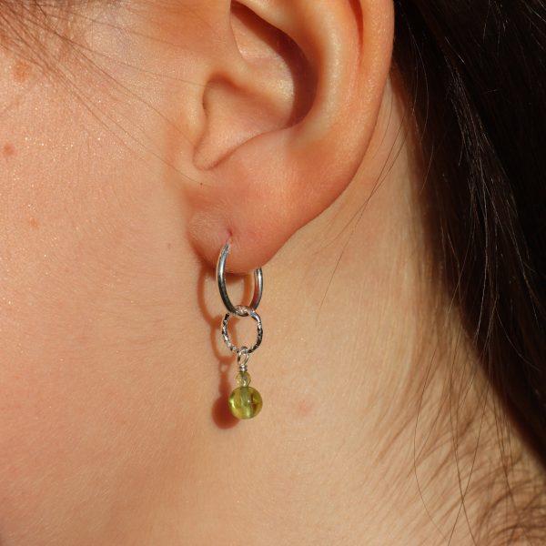 Peridot Drop Charm Earrings 2 b