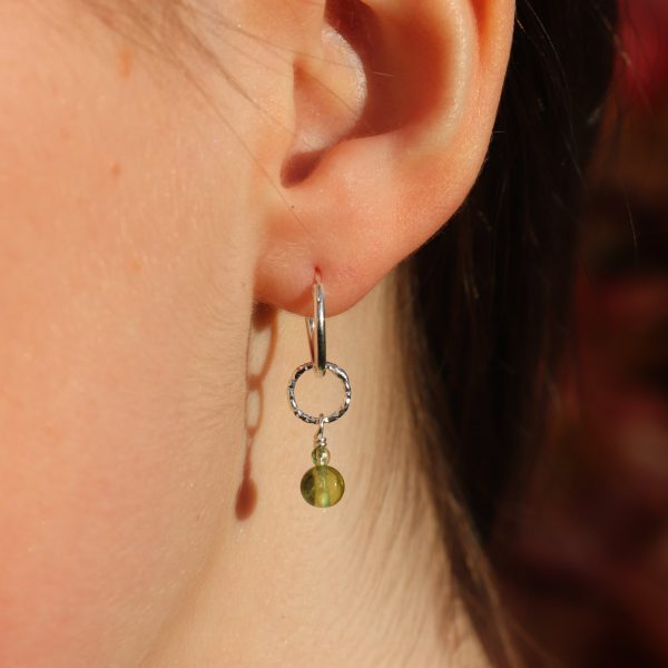 Peridot Drop Charm Earrings 3 b