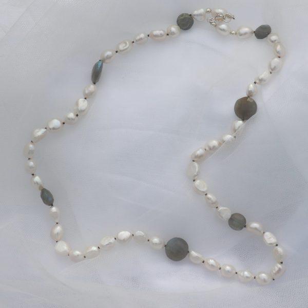 Baroque Pearls and Labradorite 1