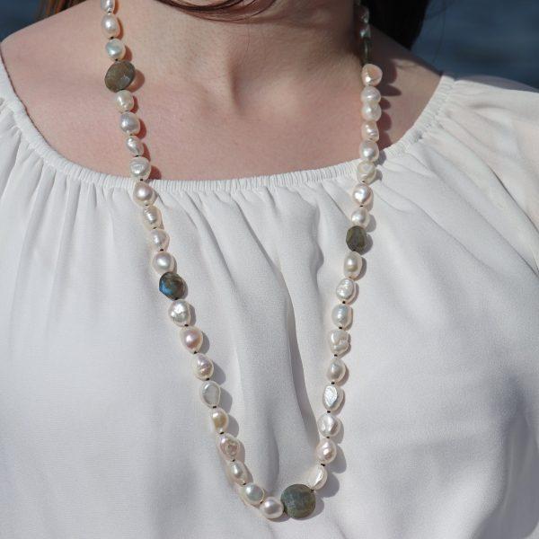 Baroque Pearls and Labradorite 6
