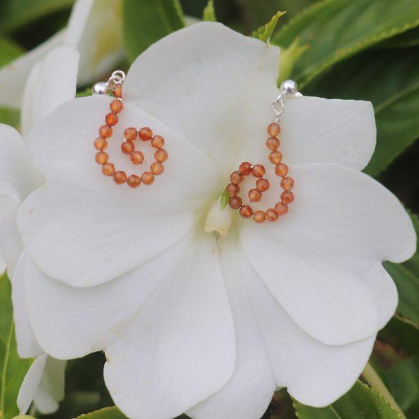 Hessonite Garnet Sparkle Hook Earrings 4